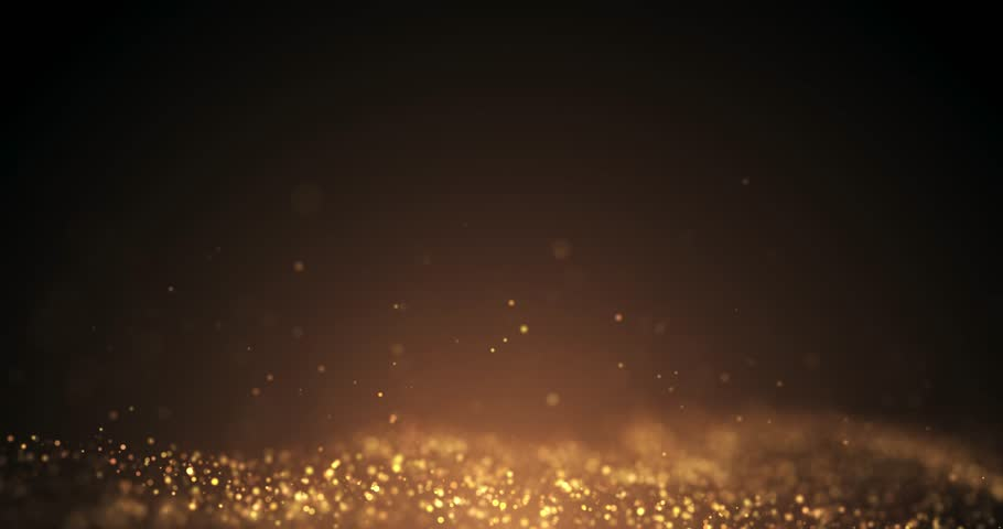 Gold Particles motion flickering  Loop seamless. Particle gold dust flickering on black background.abstract Footage background for text. | Shutterstock HD Video #1019276797