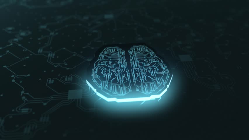 Digital brain artificial intelligence network | Shutterstock HD Video #1019276941
