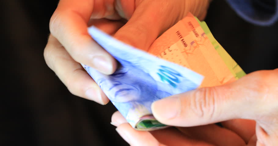 Counting South African money ZAR Rands | Shutterstock HD Video #1019306281