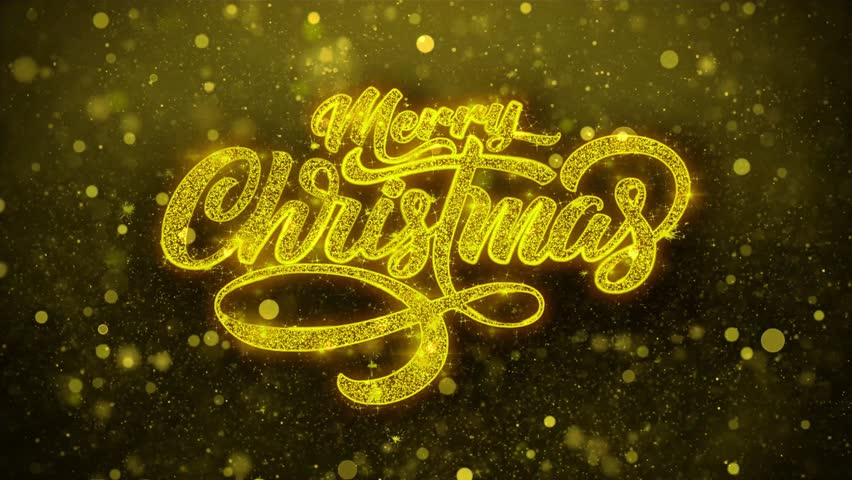 Sparkling Lights xmas Merry Christmas and Happy New Year greeting message text particles Blinking Golden Looped Background. Gift, card, Invitation, Celebration, Events, Message, Holiday, Festival. | Shutterstock HD Video #1019310322