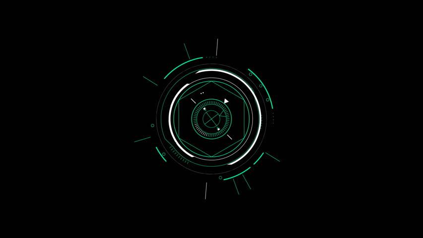 Sci-fi display circular elements, HUD futuristic user interface