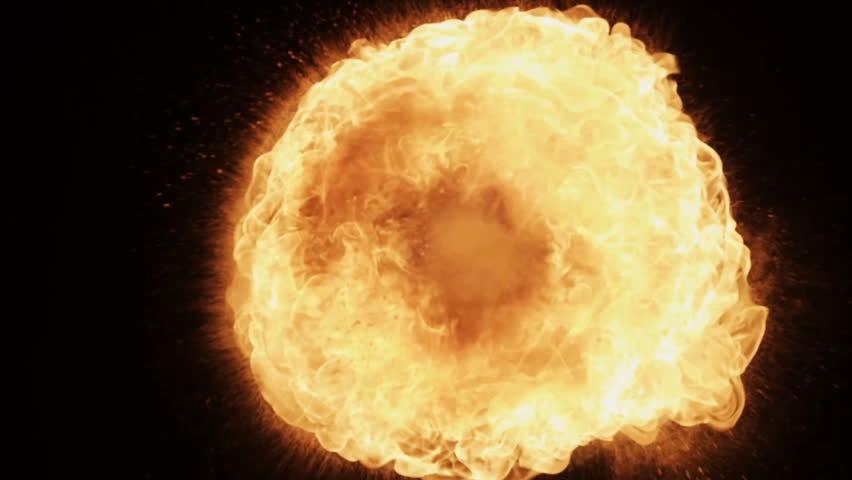 Fire ball explosion