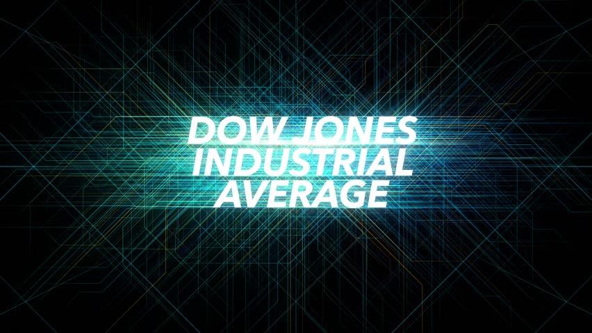 Digital Lines Tech Word - DOW JONES INDUSTRIAL AVERAGE | Shutterstock HD Video #1019396788
