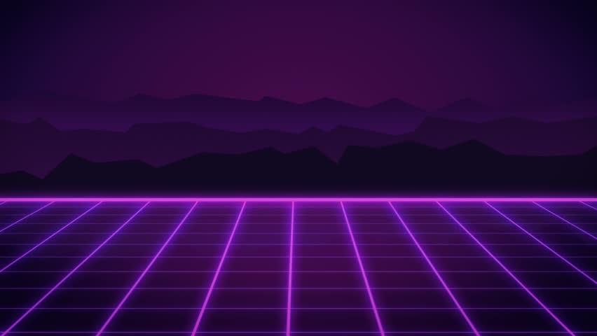 80s Retro Futurism Background Stock Footage Video (100%