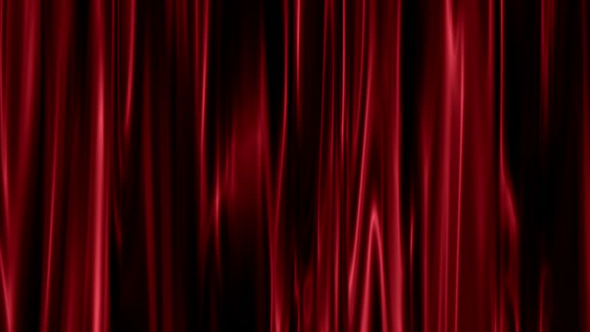 Floating red satin texture curtains with highlights and shadows on the material  | Shutterstock HD Video #1019434318