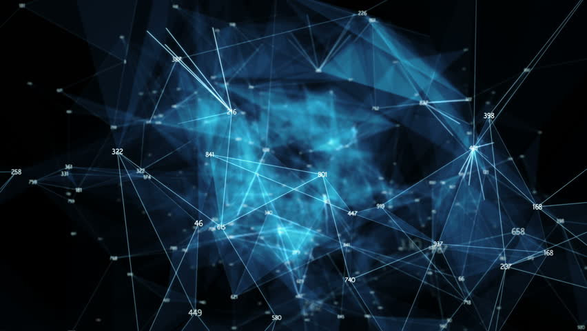 Abstract binary polygon plexus nodes connections network For visuals vj internet presentations motion background hi-tech technology science engineering medical dashboard Seamless Loop | Shutterstock HD Video #1019451214