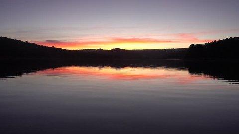 The lagoons of Ruidera at dawn