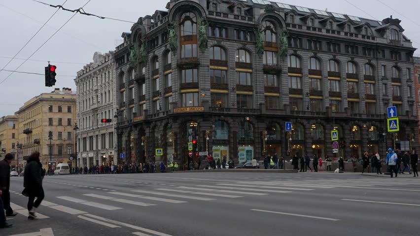 Saint-Petersburg.Russia.11.15.2018.People on the street. | Shutterstock HD Video #1019580559