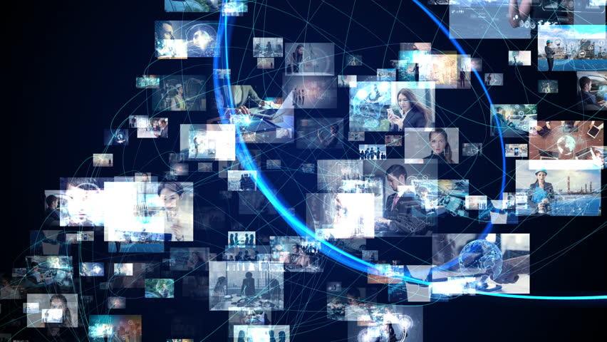 Social network concept. | Shutterstock HD Video #1019598409