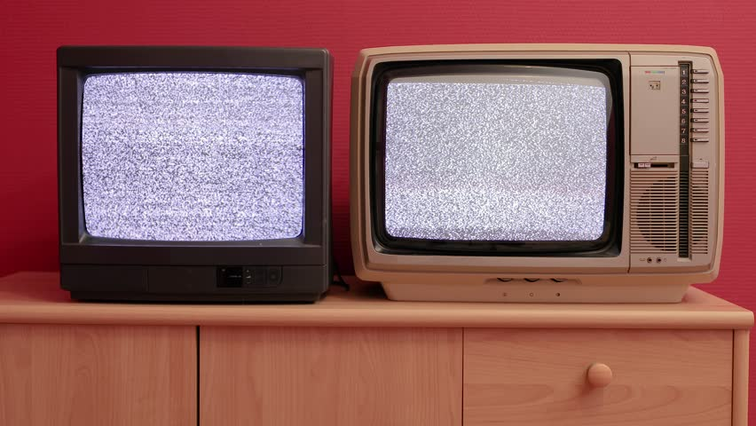 No signal, just noise on two vintage TV sets | Shutterstock HD Video #1019672149