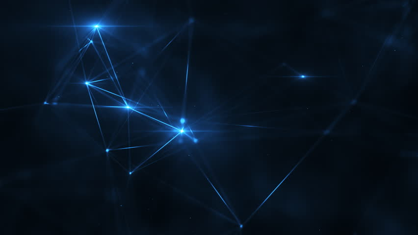 Abstract plexus structure of many glowing lines and particles. Connection concept. Creative technological background with digital composition and optical flares. Looped sequence. | Shutterstock HD Video #1019711416
