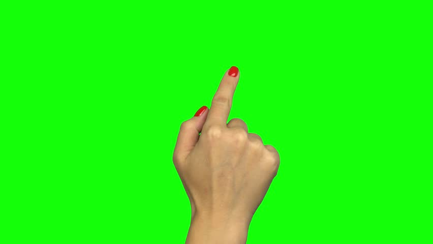 Female hand touch gestures on green screen | Shutterstock HD Video #1019712196