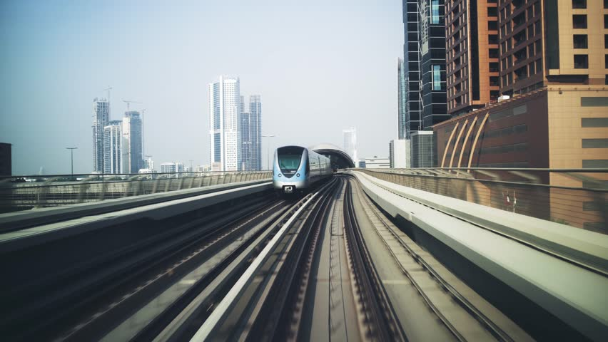 Automated driverless train in Dubai | Shutterstock HD Video #1019858779
