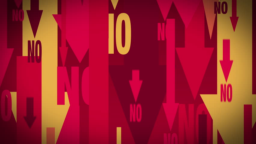 Arrows and 'NO' text, looped   Shutterstock HD Video #1019877700