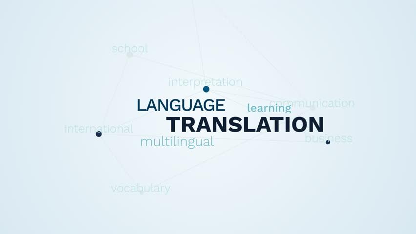 translation language multilingual learning communication education interpretation business international vocabulary school animated word cloud background in uhd 4k 3840 2160. Royalty-Free Stock Footage #1019920348