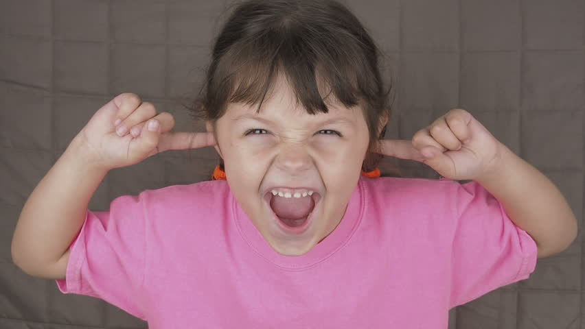 Screaming Child Covers Ears. Hysterical Stock Footage Video (100% Royalty-free) 1019984305 | Shutterstock