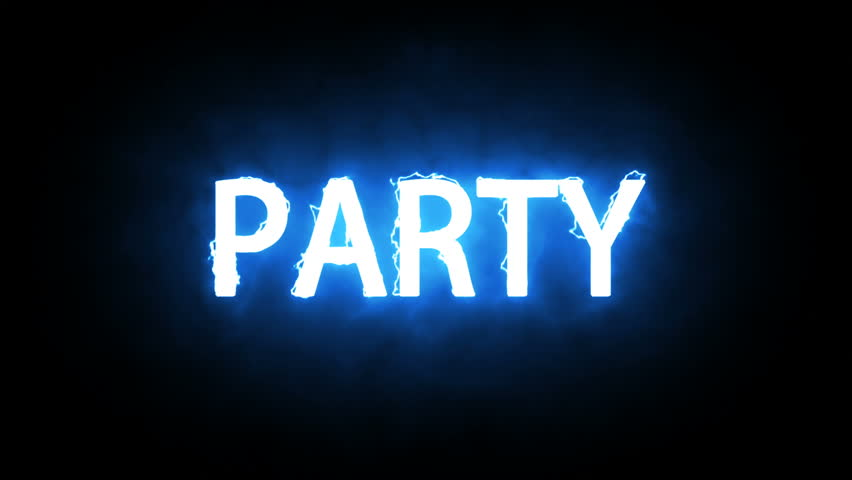 Animation of glowing word Party. Neon style | Shutterstock HD Video #1019990107