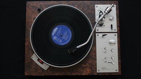 Slow Dolly Shot Of Vinyl Stock Footage Video 100 Royalty Free 1036899380 Shutterstock