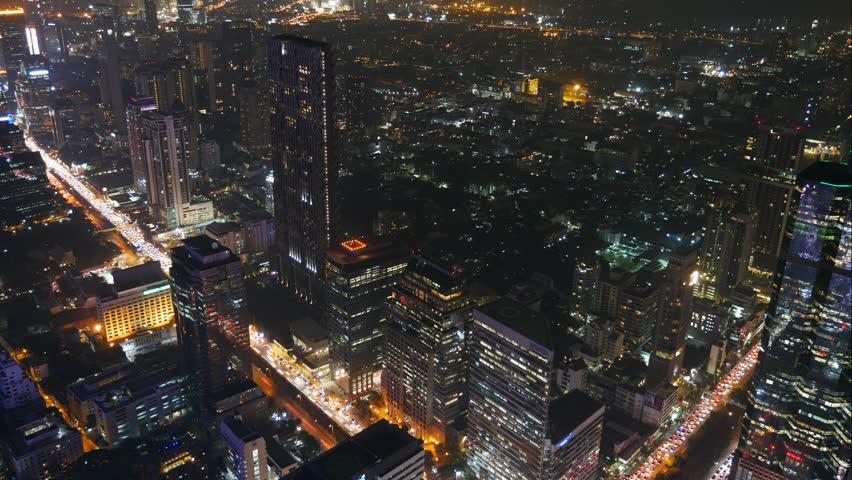 Cityscape and nightscape in Asia, Bangkok | Shutterstock HD Video #1020007048