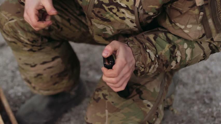 Packing cartridges in AK 47 magazine