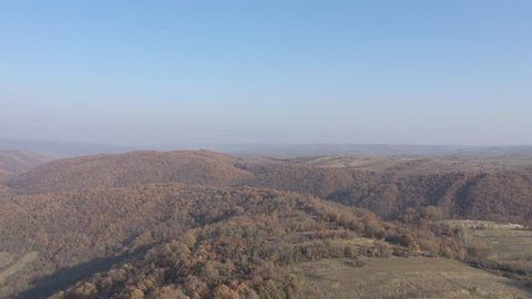 Endless valley of Eastern Serbia and Balkans 4K drone video