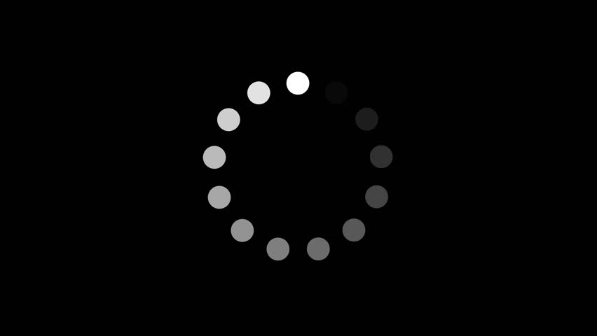 Simple Black And White Preloader With Dots Circle/ 4k animation of a design minimal preloader with white circles fading in and out | Shutterstock HD Video #1020097294