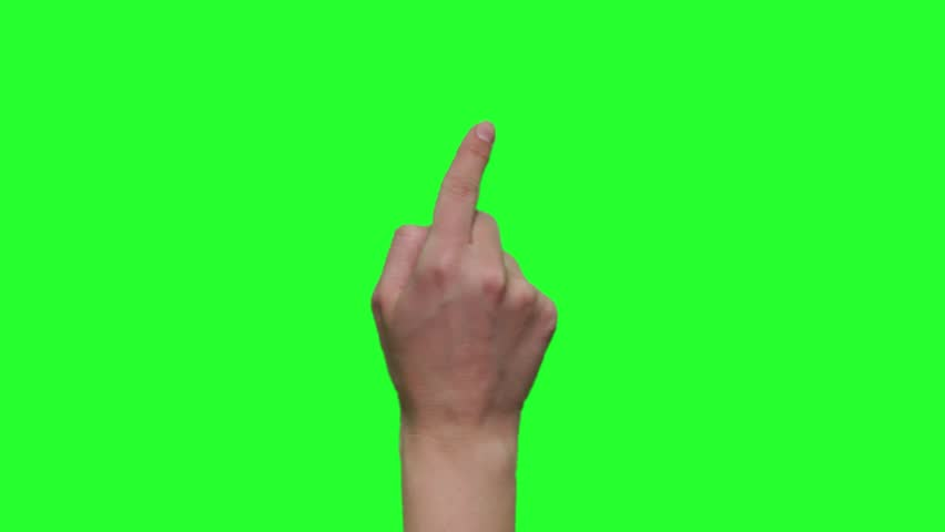 Hand gestures. Touchscreen. Female hand showing multitouch gestures in green screen.    Shutterstock HD Video #1020102448