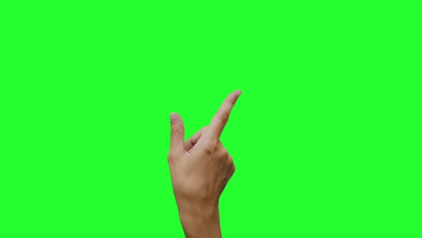 Hand gestures. Touchscreen. Female hand showing multitouch gestures in green screen.    Shutterstock HD Video #1020102499
