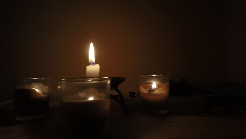 Four candles composition | Shutterstock HD Video #1020122989