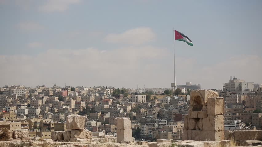 AMMAN, JORDAN - FEBRUARY 23 2018: Cityscape of Amman. View from the citadel hill. | Shutterstock HD Video #1020131866