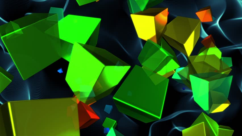 Psychedelic Rotating Cubes Abstract Motion Background Loop 1 | Shutterstock HD Video #1020142369