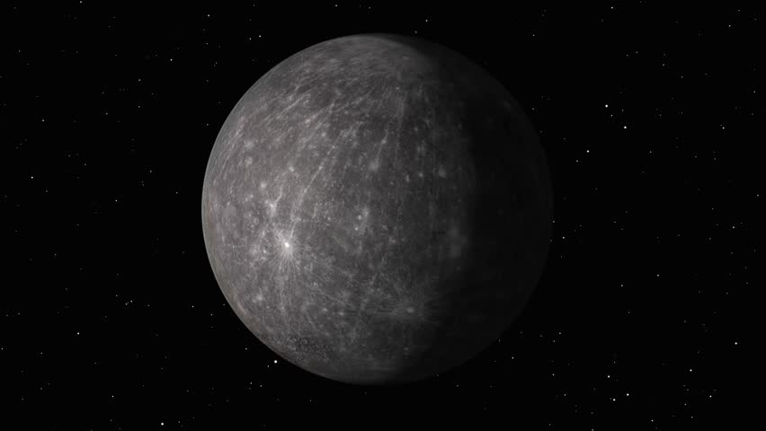 Realistic Mercury in Space | Shutterstock HD Video #1020157747