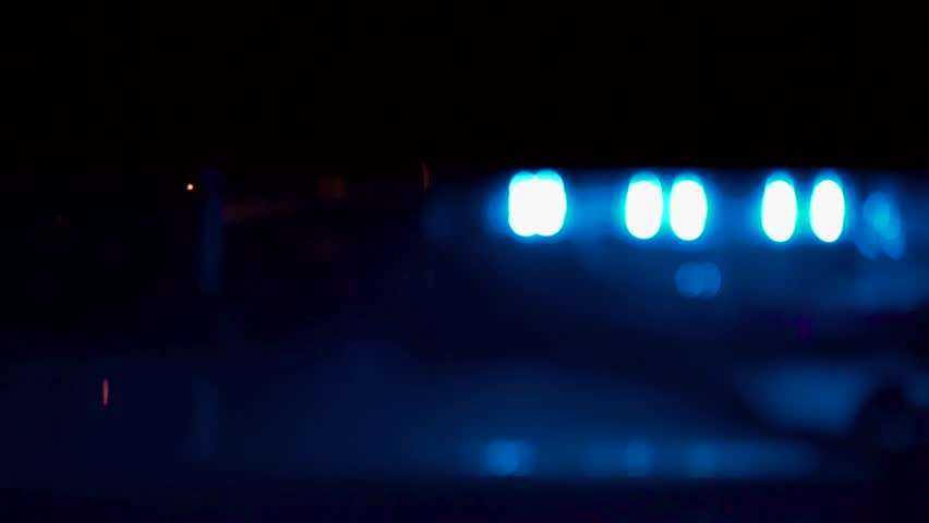 Flashing Lights On Top Of A Police Car | Shutterstock HD Video #1020218224