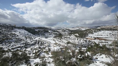 Israel/Israel-2018:Jerusalem mountains covered with snow
