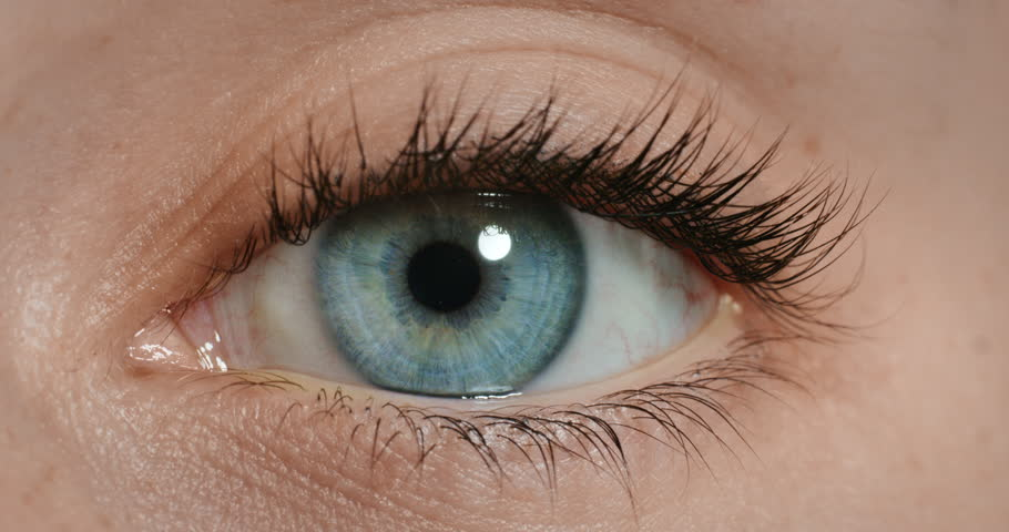 Close up beautiful blue eye opening human iris macro natural beauty vision concept 4k footage shot on Red Epic Dragon | Shutterstock HD Video #1020306853