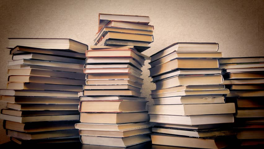 Timelapse, books disappear from bookshelves, vintage style   Shutterstock HD Video #1020328600