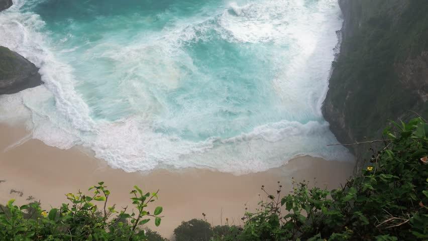 Famous Kelingking Beach in Nusa Penida   Shutterstock HD Video #1020335386