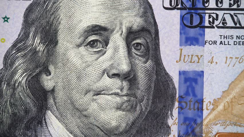 New US 100 dollar bill 2013 rotating, money close up. 4K UHD video footage | Shutterstock HD Video #1020352114