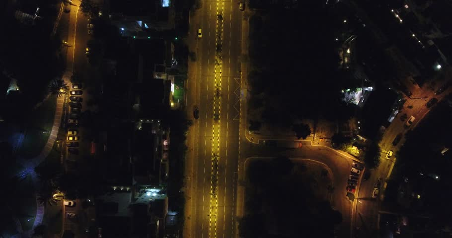 Aerial footage of the streets of Tel Aviv Israel at night | Shutterstock HD Video #1020352204