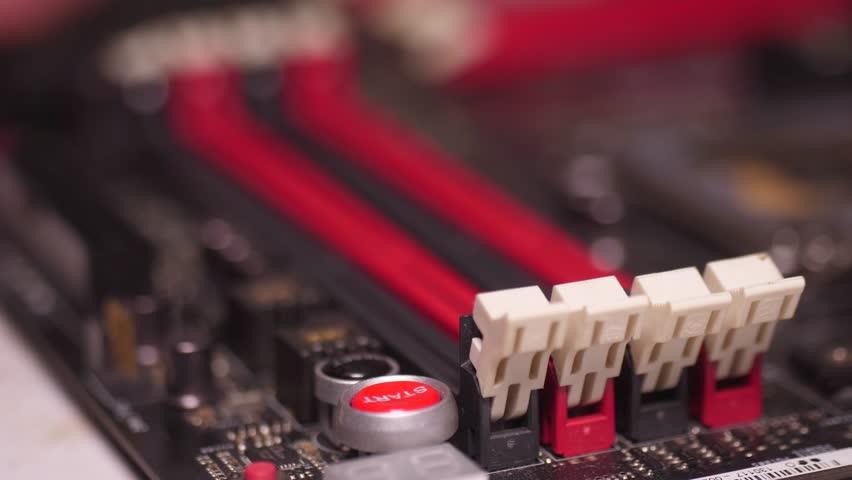 installing memory ram in computer motherboard 4k Royalty-Free Stock Footage #1020368110