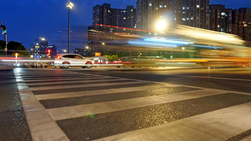 People at the crossroads. time lapse | Shutterstock HD Video #1020370282