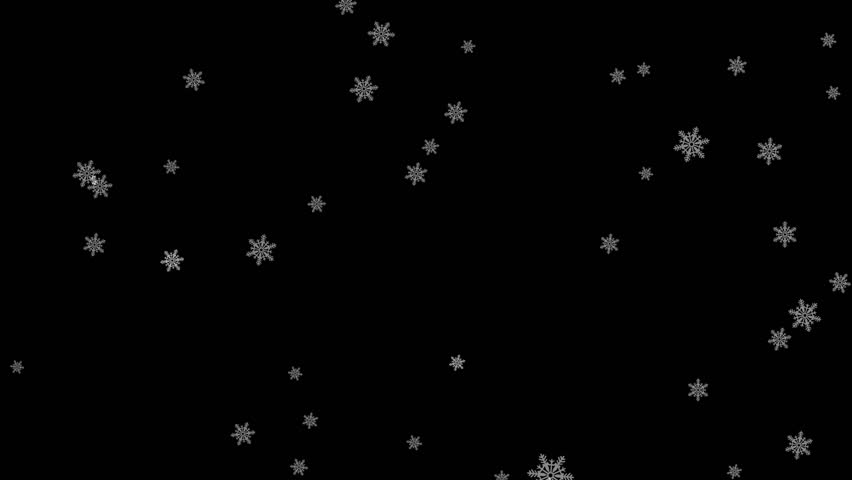 Falling down in slow motion snowflakes from left to right, calm snow, shot on snow snowfall snowflake Particles Seamlessly Loop Black Alpha Green Screen Animation 1   Shutterstock HD Video #1020371068