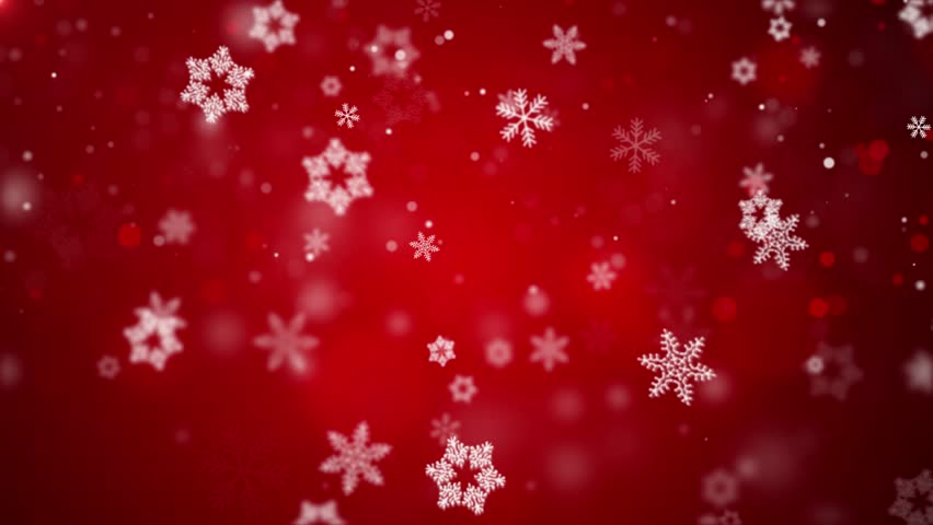 Christmas Loopable Background With Nice Red Falling Snow Snowfall Snowflake Particles Seamlessly Loop Black Alpha Green Screen Animation | Shutterstock HD Video #1020424636