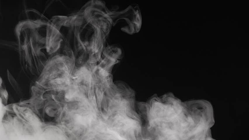 White Smoke on Black Background #1020459664