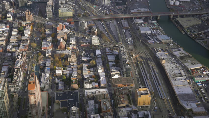 Long Island City and Newtown Creek. Queens, New York City, United States of America. Aerial View. Reveal Shot | Shutterstock HD Video #1020460138