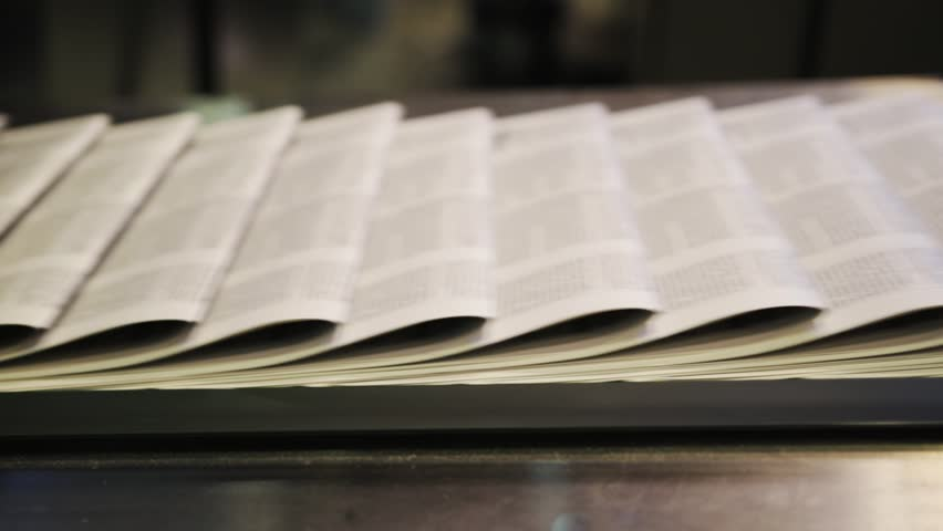 printing newspapers in typography Royalty-Free Stock Footage #1020466159