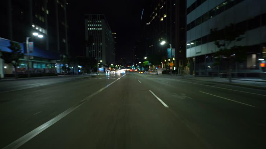 Los Angeles, California, USA - Aug 1, 2018: Hyperlapse Driving Beverly Hills Wilshire Blvd East Bound | Shutterstock HD Video #1020477253