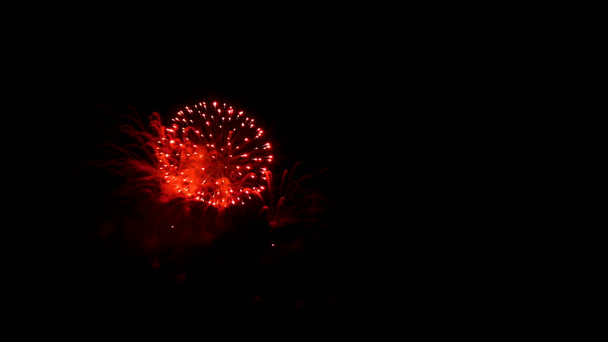 Closeup amazing firework show for celebration on black sky at night. | Shutterstock HD Video #1020501256