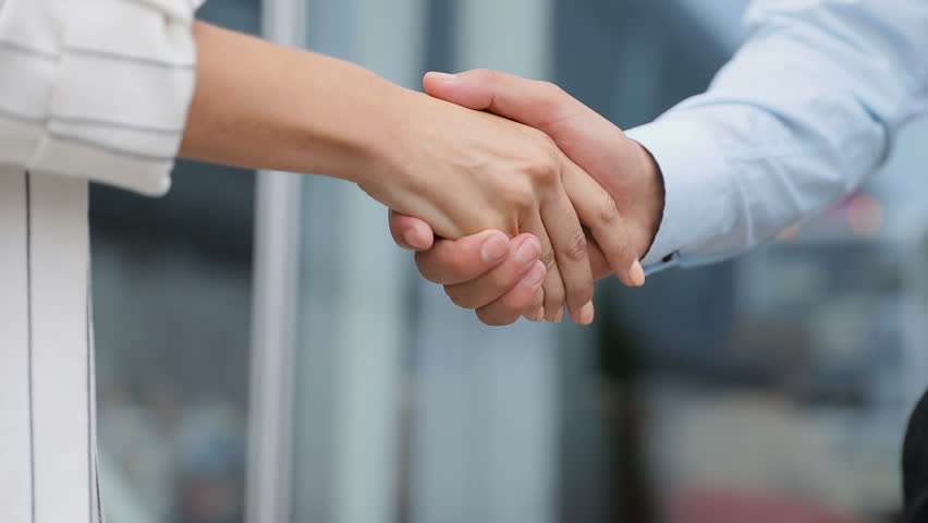 Business People Shaking Hands Closeup. People Shaking Hands