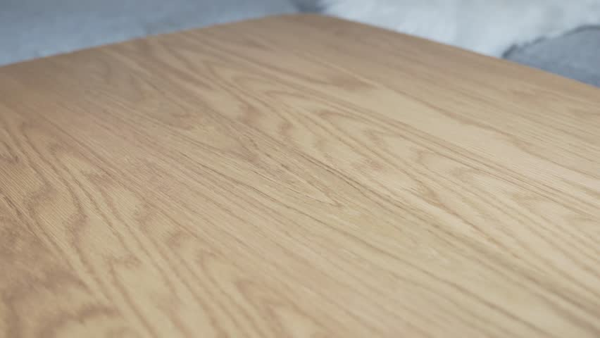 Cleaning table with a wet cloth #1020508336
